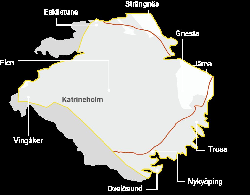 Karta över södermanland